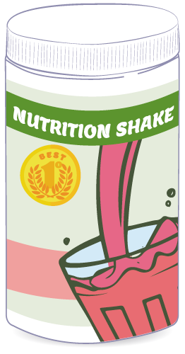 Nutrition meal replacement shake canister