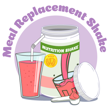 Canister of Meal Replacement Shake Powder