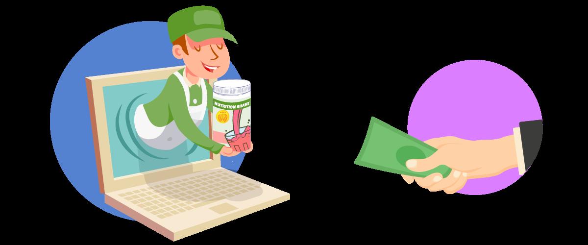 Hand Ordering Herbalife Shakes Online